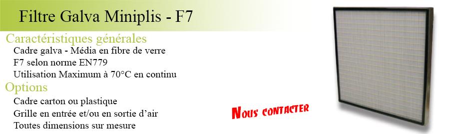 Article filtre Galva miniplis F7